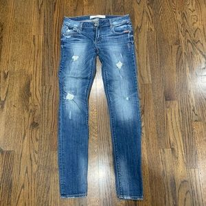 Abercrombie and Fitch Women's skinny jeans blue 0